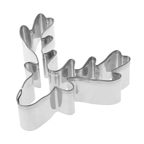 (Yearkala Stainless Steel Cookie Cutter Biscuit Mold Christmas Deer Head Reindeer)