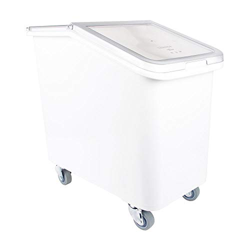 - Cambro IBS27148 27-gal Mobile Ingredient Bin - Sliding Cover, White
