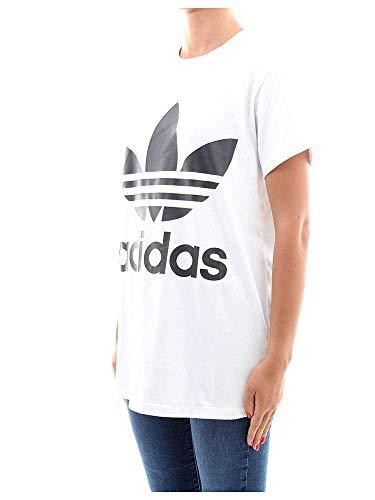 Big noir Trefoil Blanc shirt Adidas T Tee Femme d0xdf5a