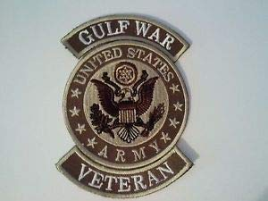 United States Army Gulf War Veteran Iron on or Sewn on Patch by HighQ -