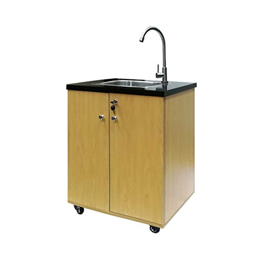 FixtureDisplays Portable Sink Self Contained Hand Wash Station Mobile Sink Water Fountain Portable Sink Water Supply w/Pump 110V Power 18536-NF No