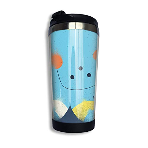 Coffee Thermos Cup Squid Stars Night Stainless Steel Travel Mug Cup Water Bottle]()