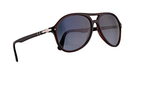Persol 3194-S Sunglasses Transparent Havana w/Azure Gradient Blue Lens 59mm 1075Q8 PO 3194S PO3194S PO3194-S (Persol Transparent Sunglasses)