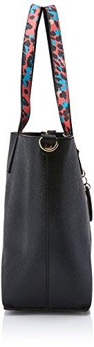 Versace Jeans Ee1vrbbsa E70039, Borsa a Tracolla Donna, Multicolore (Nero/Multicolore), 13x26.5x38 cm (W x H x L)