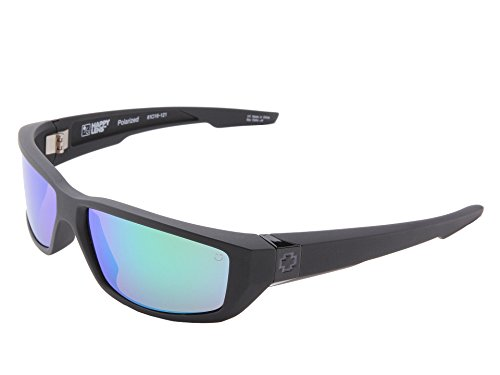Spy Optic Dirty Mo Sunglasses Matte Black w/ Happy Bronze Polarized Green Spectra Lens + - Mo Polarized Sunglasses Dirty