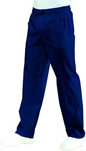 Blu Isacco Pantalone con elastico Blu 65/% Poliestere 35/% Cotone S 195 gr//m/²