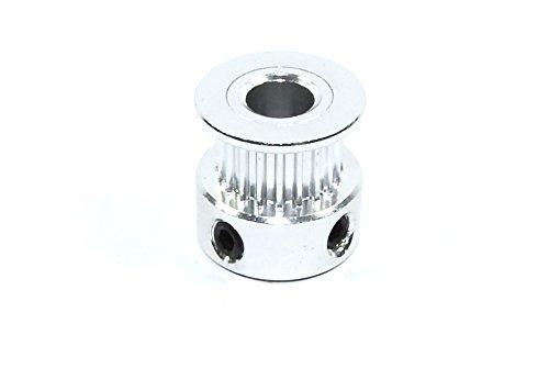 GT2 20T W6 B6.35 Wheel 6.35mm Bore Grub Belt Pulley CNC Reprap