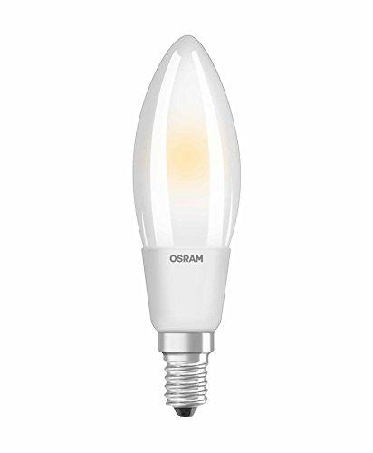 OSRAM Ampoule LED Filament, Forme flamme, Culot E14, Dimmable, 5W Equivalent 40W, 220-240V, dépolie, Blanc Chaud 2700K, Lot de 1 pièce