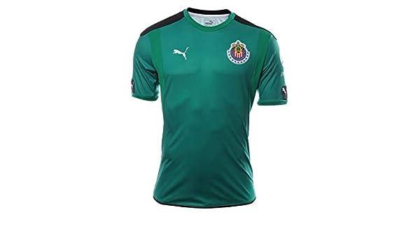 582ca87b5 Amazon.com  PUMA Men s Chivas Goalkeeper SS Jersey Green  Sports   Outdoors