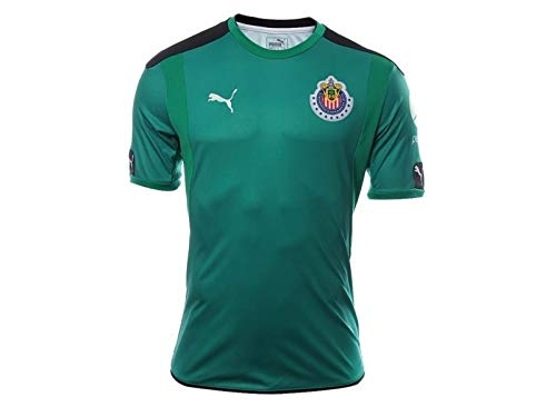 cea4a047db9 Amazon.com  PUMA Men s Chivas Goalkeeper SS Jersey Green  Sports ...