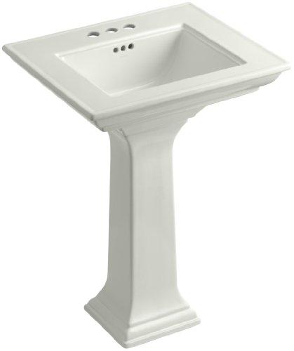 KOHLER K-2344-4-NY Memoirs Pedestal Bathroom Sink with Stately Design and 4