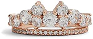 Aldo Fashion Ring for Women, Inlaid With Crystals Stone, Size 6 EU