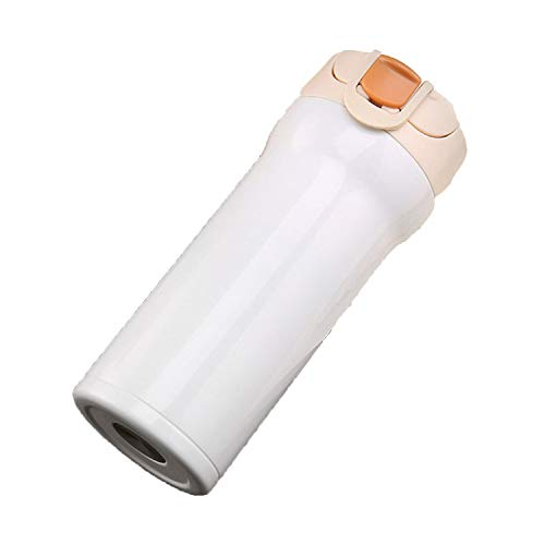 Chibi-Store Double Wall Stainless Steel Vacuum Flasks 500ml Thermo Travel Mug,350 ml,1white