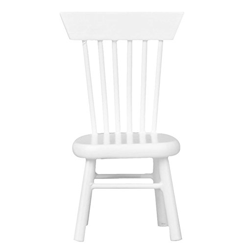 TOOGOO(R) 1/12 Dollhouse Miniature Dining Furniture Wooden Chair White