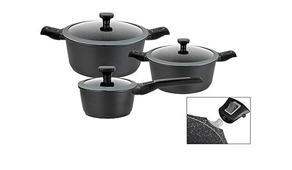 Olla GSW 167840 Easy Click color negro 20 cm, aluminio, pl/ástico, cristal, silicona