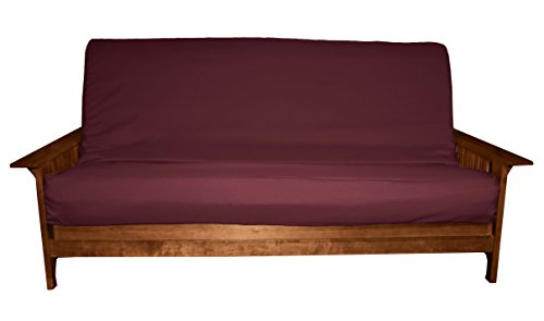 Futon Pet (Better Fit Machine Washable Upholstery Grade Futon Cover , Full 8-inch Loft-size, Twill Burgundy)