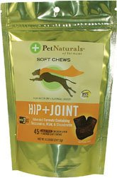 Hip and Joint for Dogs, Large 21 Soft Chew Tablets by Pet Naturals of Vermont / 21 Count