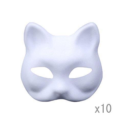 Meimasks DIY White Paper Mask Pulp Blank Hand