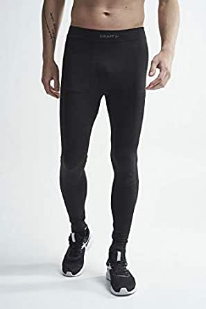 Craft Men's Active Intensity Base Layer Tights Pants, Black/Asphalt, Small