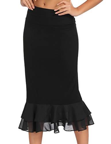 GRACE KARIN Knee Length Underskirt Extender Ruffled Chiffon Decorated Dress/Skirt