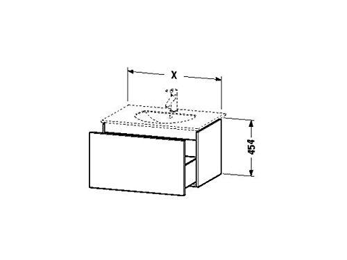Duravit Waschtischunterschrank wandh. Delos 541x800x454mm 1 Auszug, für 049983, eiche gebürstet, DL6