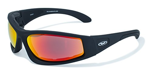 Global Vision Eyewear Triumphant Safety Sunglasses With Black Frames And G Tech Red Lenses