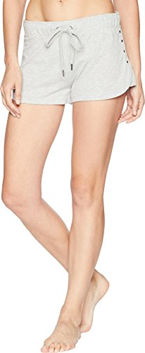 (PJ Salvage Women's Solid Lounge Pajama Short, Beach Please Grey, Small)