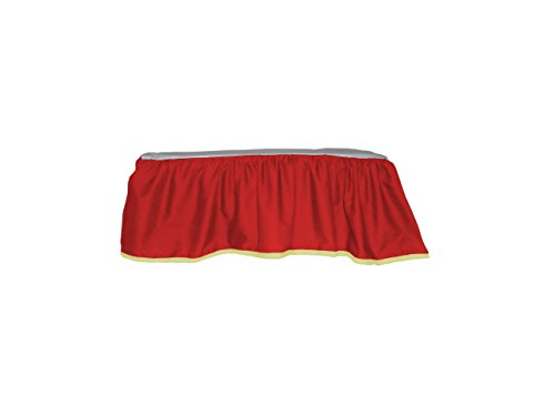 Baby Doll Bedding Solid Two tone Crib Skirt/ Dust Ruffle, Red/Yellow by BabyDoll Bedding