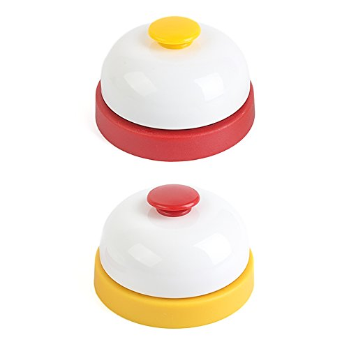 HansGo Game Call Bell, 2PCS Pet Training Bell Ring Service Bell Customer Bell for Offices Hotels Schools Restaurants
