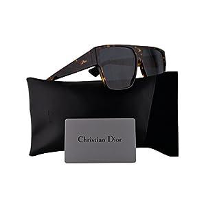 Christian Dior DiorHit Sunglasses Brown Yellow Havana w/Blue Mirror Gradient Gold Lens 62mm P65A9 Dior Hit