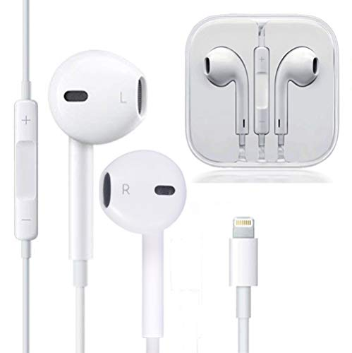 my-handy-design Earbuds, Microphone Earphones Stereo Headphones Noise Isolating Headset Compatible with iPhone 8/8 Plus/7/7 Plus/XS/XS Max/XR/X Earphones