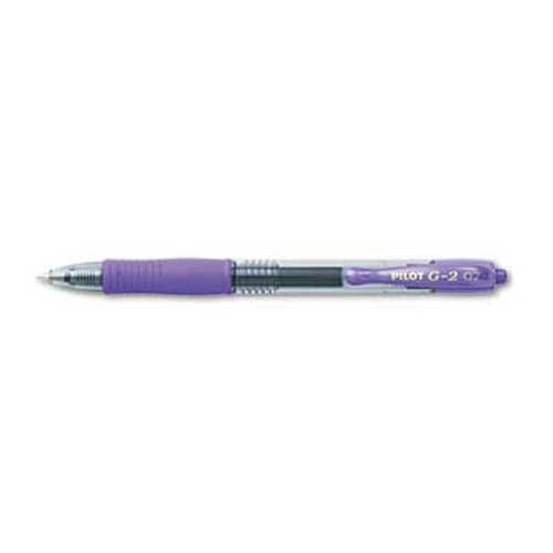 Pilot G2 Premium Retractable Gel Ink Pen, Refillable, Purple Ink.7mm, Dozen