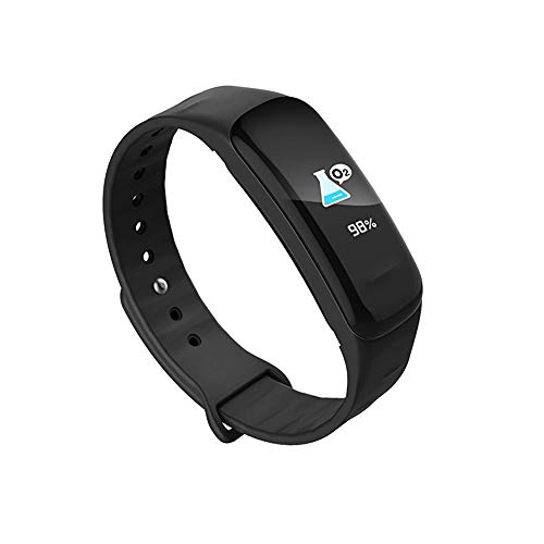 - IAMUP C62 0.96inch IPS Color Smart Watch Bracelet Heart Rate Monitor Bluetooth LE 4.0 Black