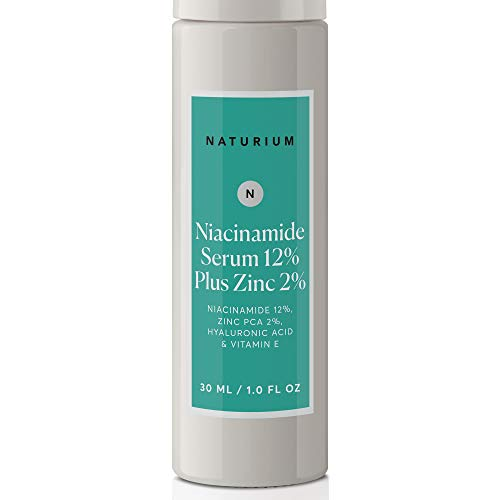 Niacinamide Serum 12% Plus Zinc 2% - 1oz, Vitamin B3, Minimize Pores, Balance Oil Production, Wrinkles, Fine Lines, Facial Serum with Niacinamide, Hyaluronic Acid & Vitamin E
