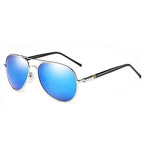 14 Gafas Gafas 4 Sol café 5 Hombres de Sol polarizadas los de de azul el Que 7cm WWF Espejo conducen ZqTdwv7Z