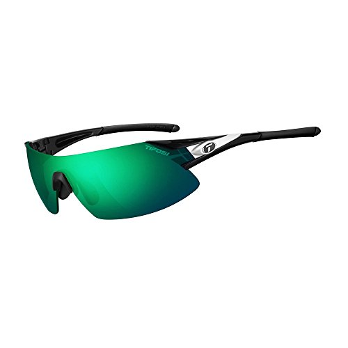 Tifosi Optics Podium XC Sunglasses Black-White/Clarion Green-AC Red-Clear, One Size - - Number 1 Sunglasses Brand