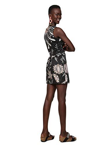 Desigual Sleeveless Femme Dress Robe Woman Kira Noir 2000 Black fqSafU