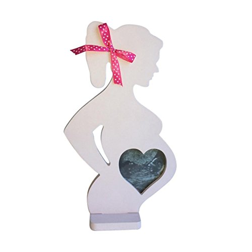 lightclub Wedding Photo Frame Wood Pregnant Women Body Home Decor Props Party Signs for Baby Boys or Girls Room 1 ()