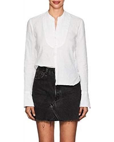 - Polo Ralph Lauren Womens Tunic Top Tuxedo Bib Shirt (8P) White
