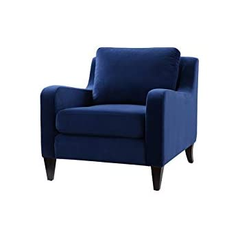 Amazon.com: Brika Home - Sillón de acento en color azul ...