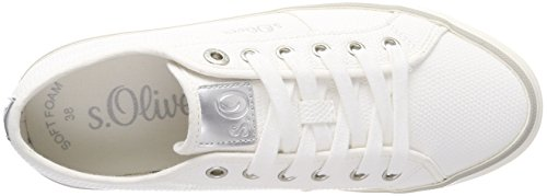 white silver S Blanc Femme Sneakers oliver 23640 Basses fqaYSw