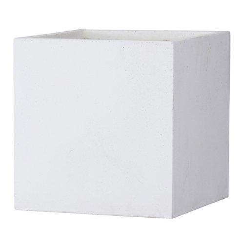 ファイバークレイ製 軽量 大型植木鉢 バスク キューブ 60cm ホワイト B06ZZV23H4 60cm  60cm
