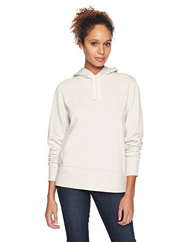 Womens Oatmeal - Amazon Essentials Women's French Terry Fleece Pullover Hoodie Sweater, -oatmeal heather, Large