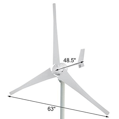 Mophorn Wind Turbine 700 Watt Wind Turbine Generator DC 24V Wind Turbine Generator Kit 3 Blades Wind Turbine Generator with Controller for Power Supplementation(700W (Wind Turbine Generator)