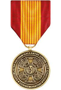 (Medals of America Gallantry Cross Unit Citation Commemorative Medal Bronze)