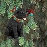 Labrador Retriever Miniature Dog Ornament - Black