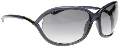 Tom Ford 0008 0B5 Light Grey Jennifer Wrap Sunglasses Lens Category 2