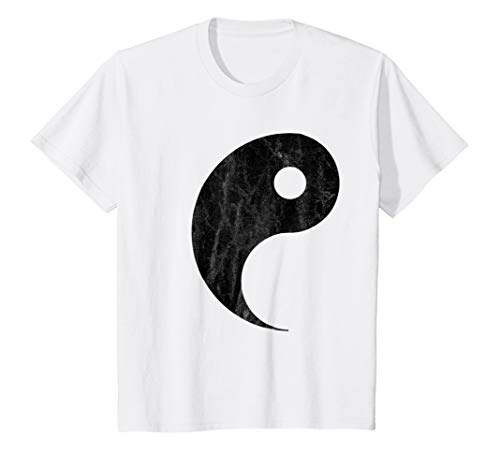 Kids Yin Yang Couples Halloween T-shirt Costume for Best Friends 4 White