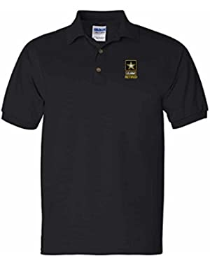 US Army Retired Custom Personalized Embroidery Embroidered Golf Polo Shirt