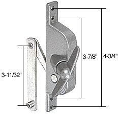 """C.R. LAURENCE WCM301 CRL Jalousie Window or Door Operator for Stanley 3-11/32"""" Link Arm"""